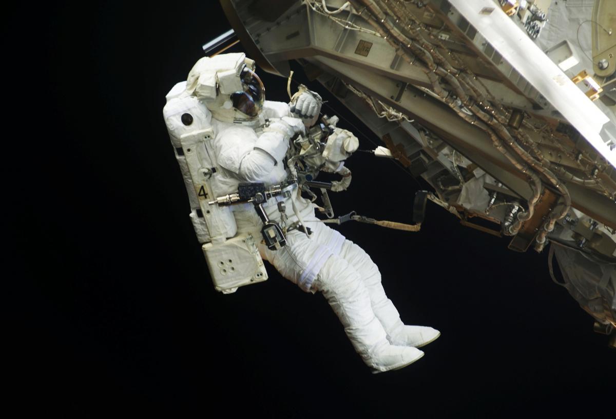 NASA astronauts in space - Original from NASA .