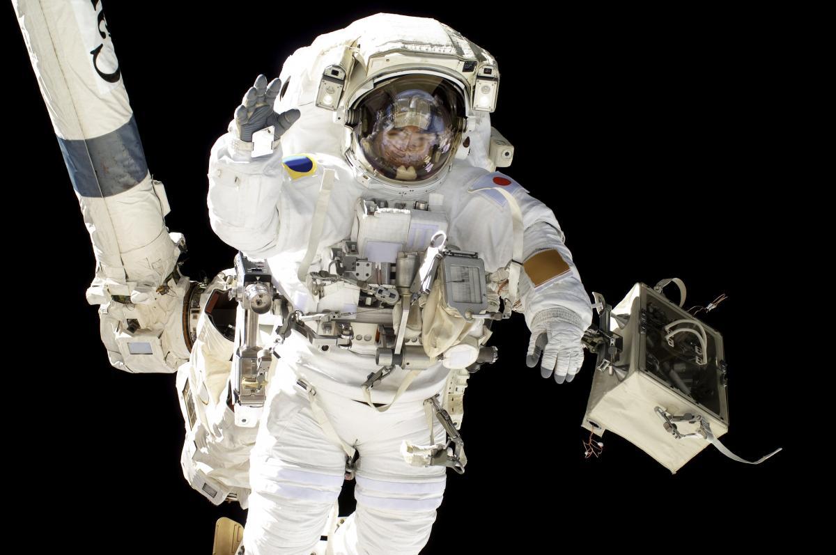 NASA astronauts in space - Original from NASA.