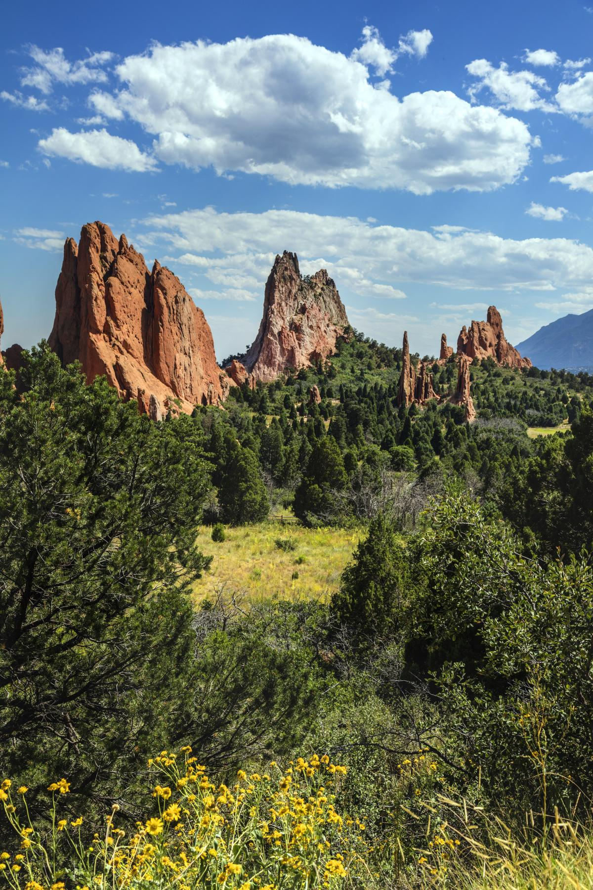The Garden of the Gods, a public park in Colorado Springs, Colorado USA - Original image from Carol M. Highsmith's America, Library of Congress collection. Digitally enhanced by avopix #393927