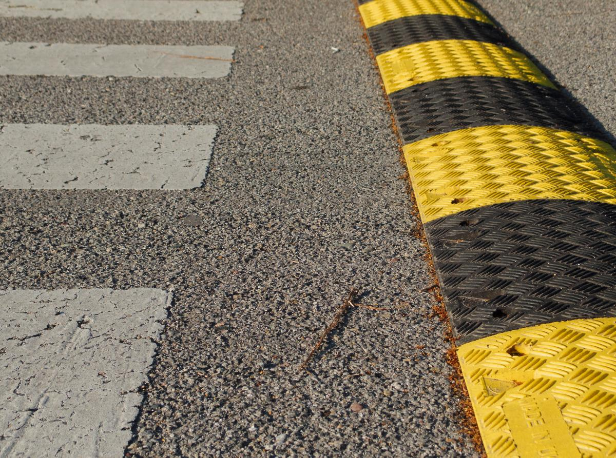 Speed Bumps And Crosswalk - free stock photo #399534