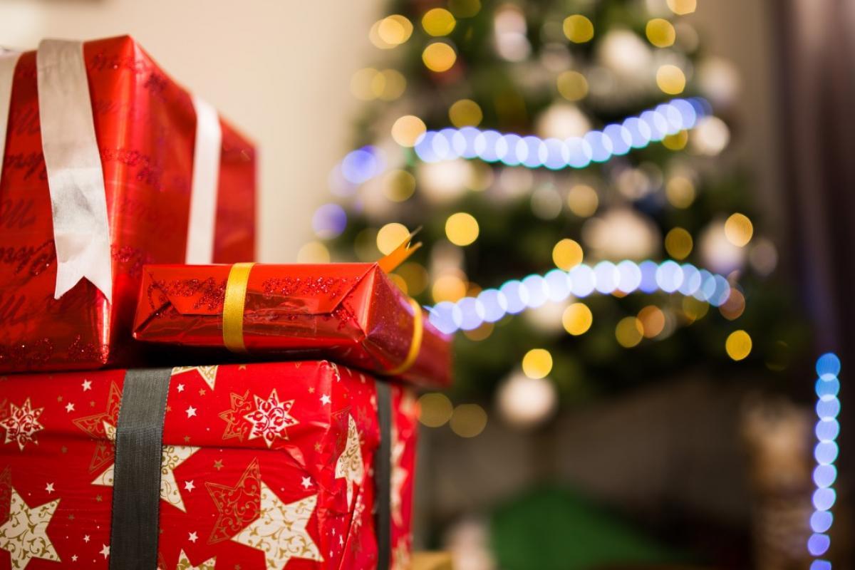 Red Ribbon Christmas Presents Free Photo