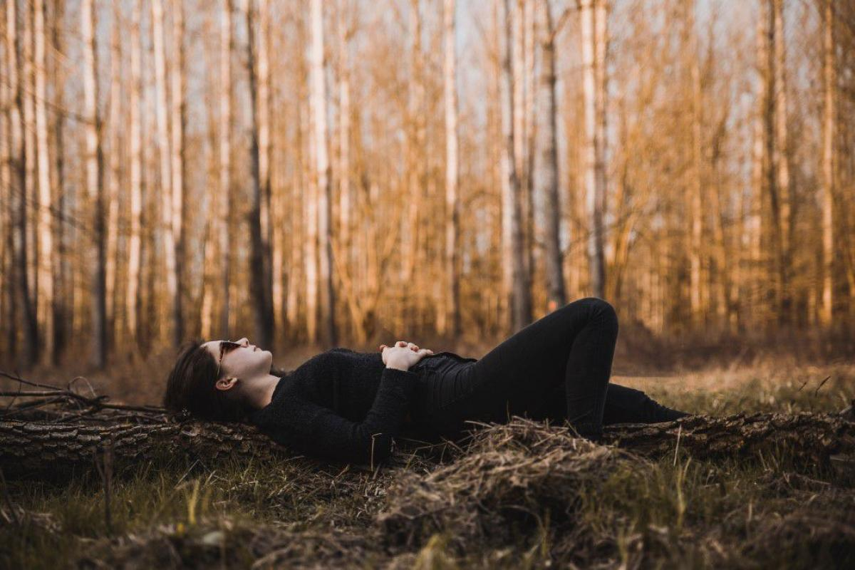 Woman Lying Down Forest Free Photo #401971