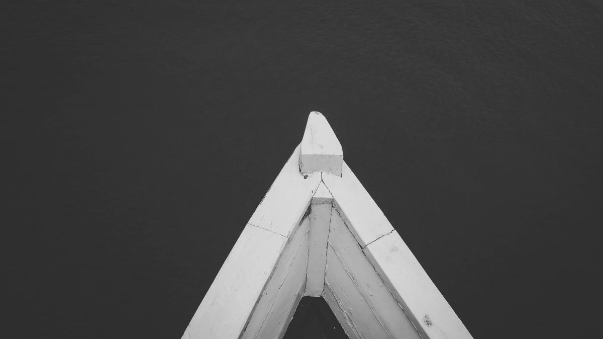 Black and white water boat #41064