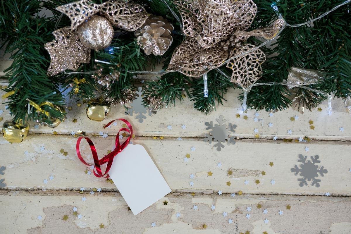 Decorations on christmas tree