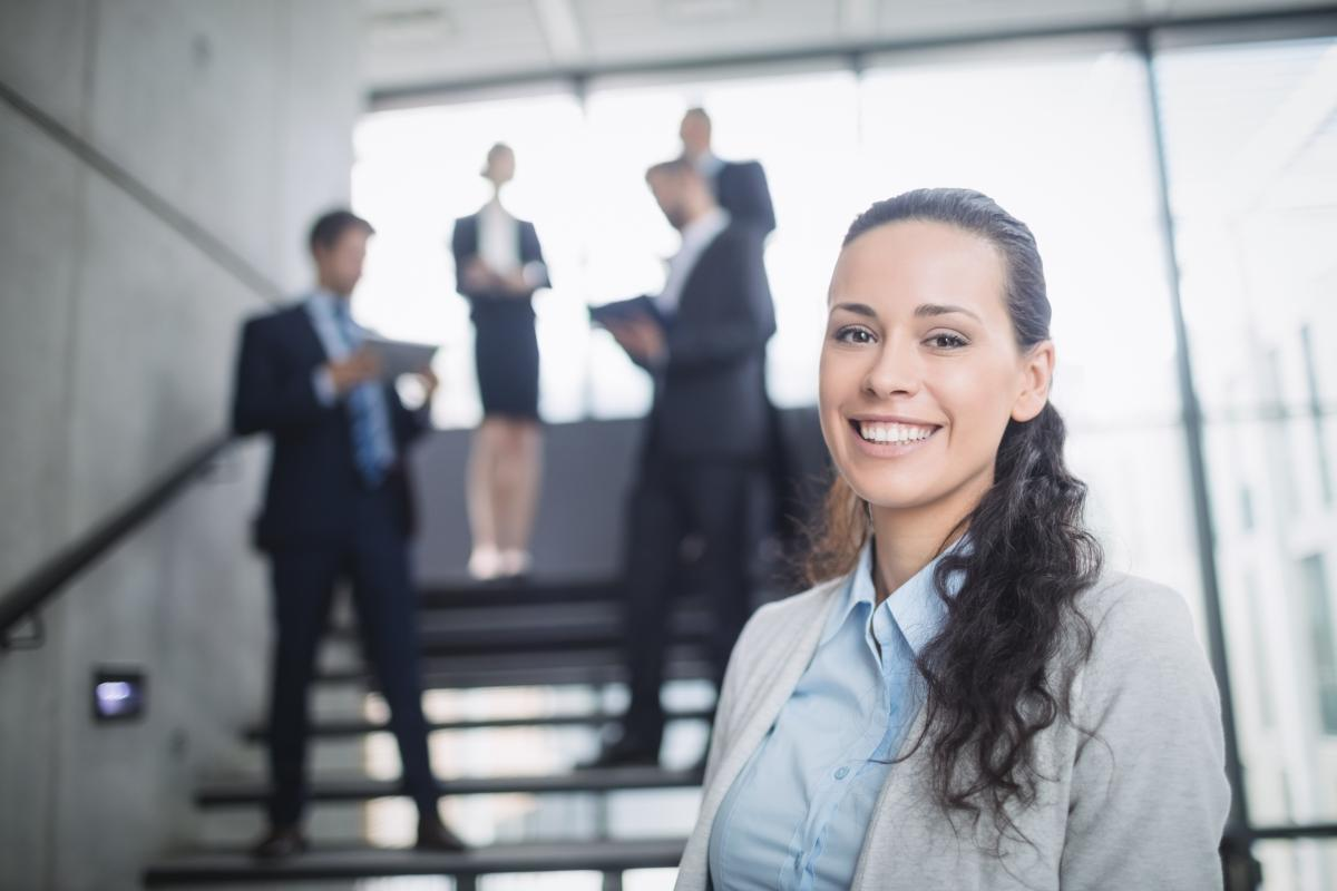 Portrait of a confident businesswoman smiling