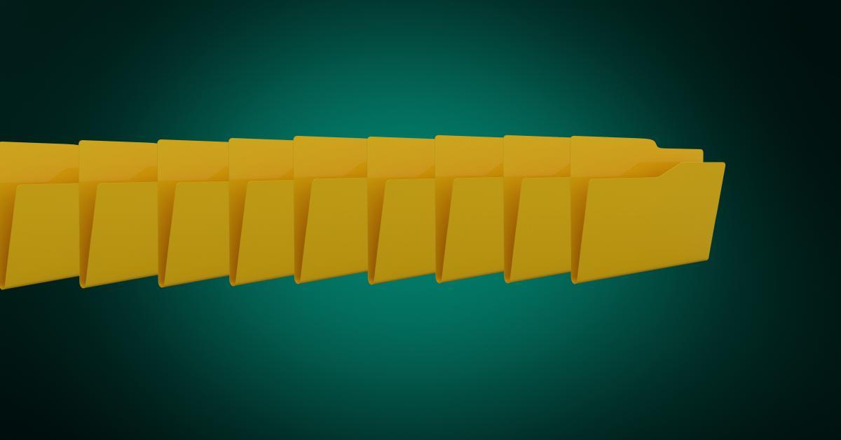 Digitally generated image of folder icons