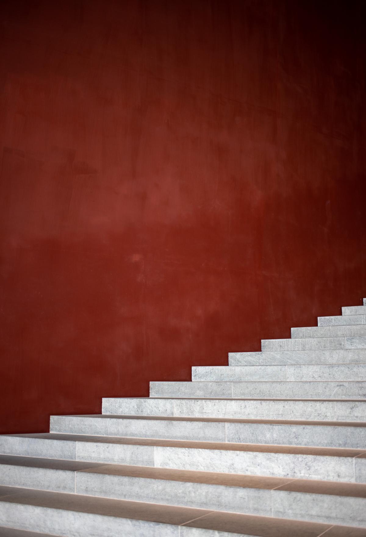 Stucco Step Wall