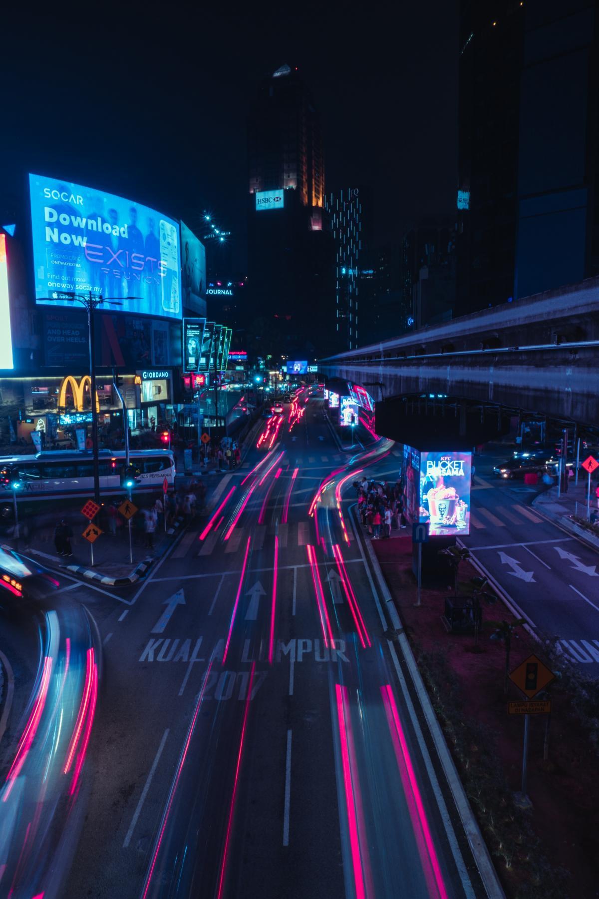 Night Intersection Lights