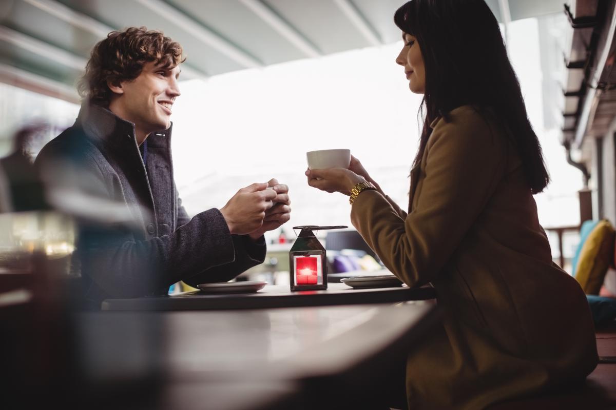Couple having coffee in restaurant #418619
