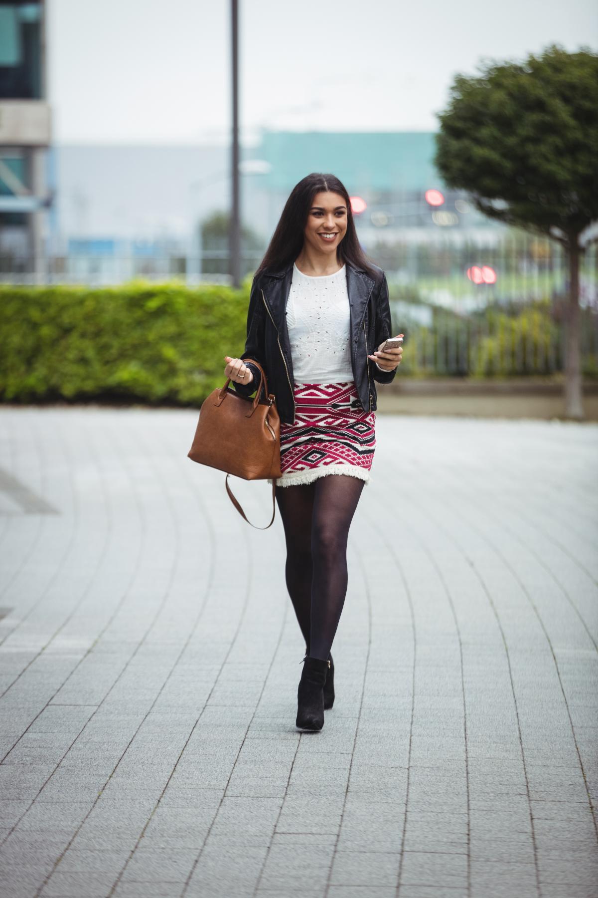 Woman walking in office premises