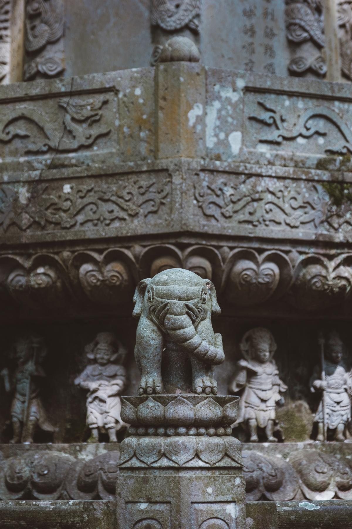Column Sculpture Temple