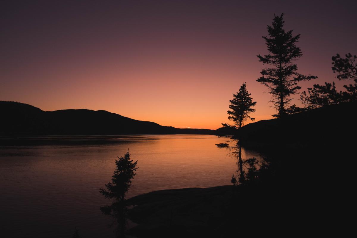 Sun Lake Sunset