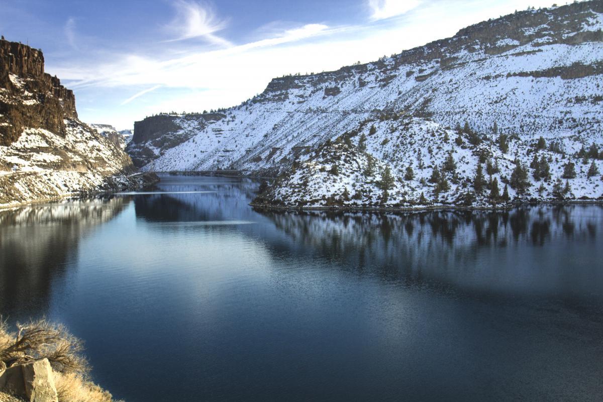Snowy Mountain Ravine Free Photo #421906