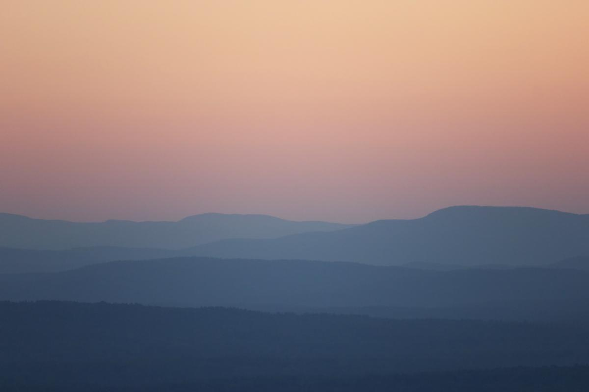 Pastel Mountain Sunset Free Photo