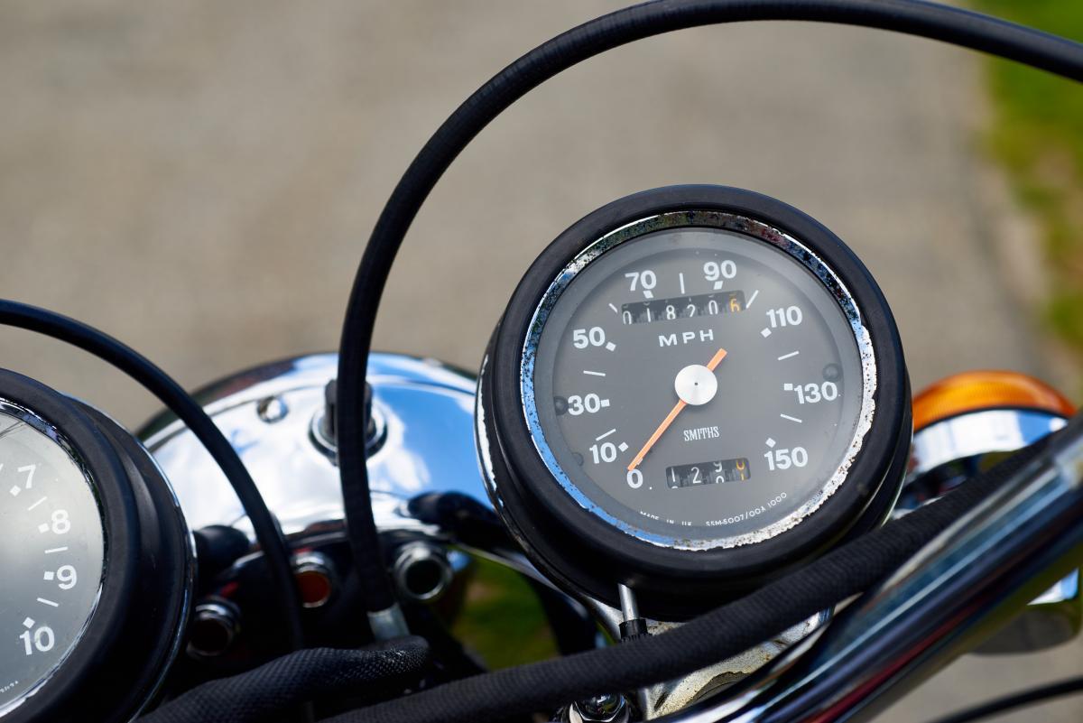 Vintage Motorcycle Gauges Free Photo