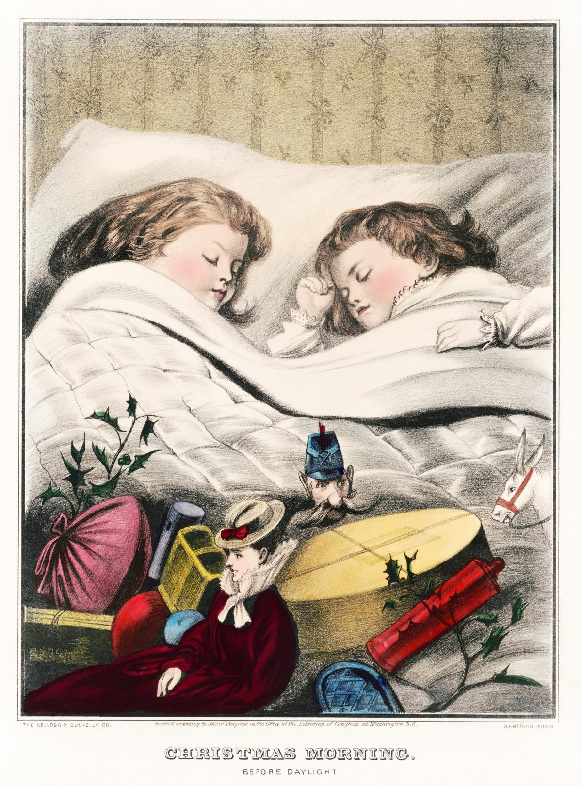 Christmas Morning–Before Daylight (1871) by The Kellogg & Bulkeley Co. Original from Library of Congress.
