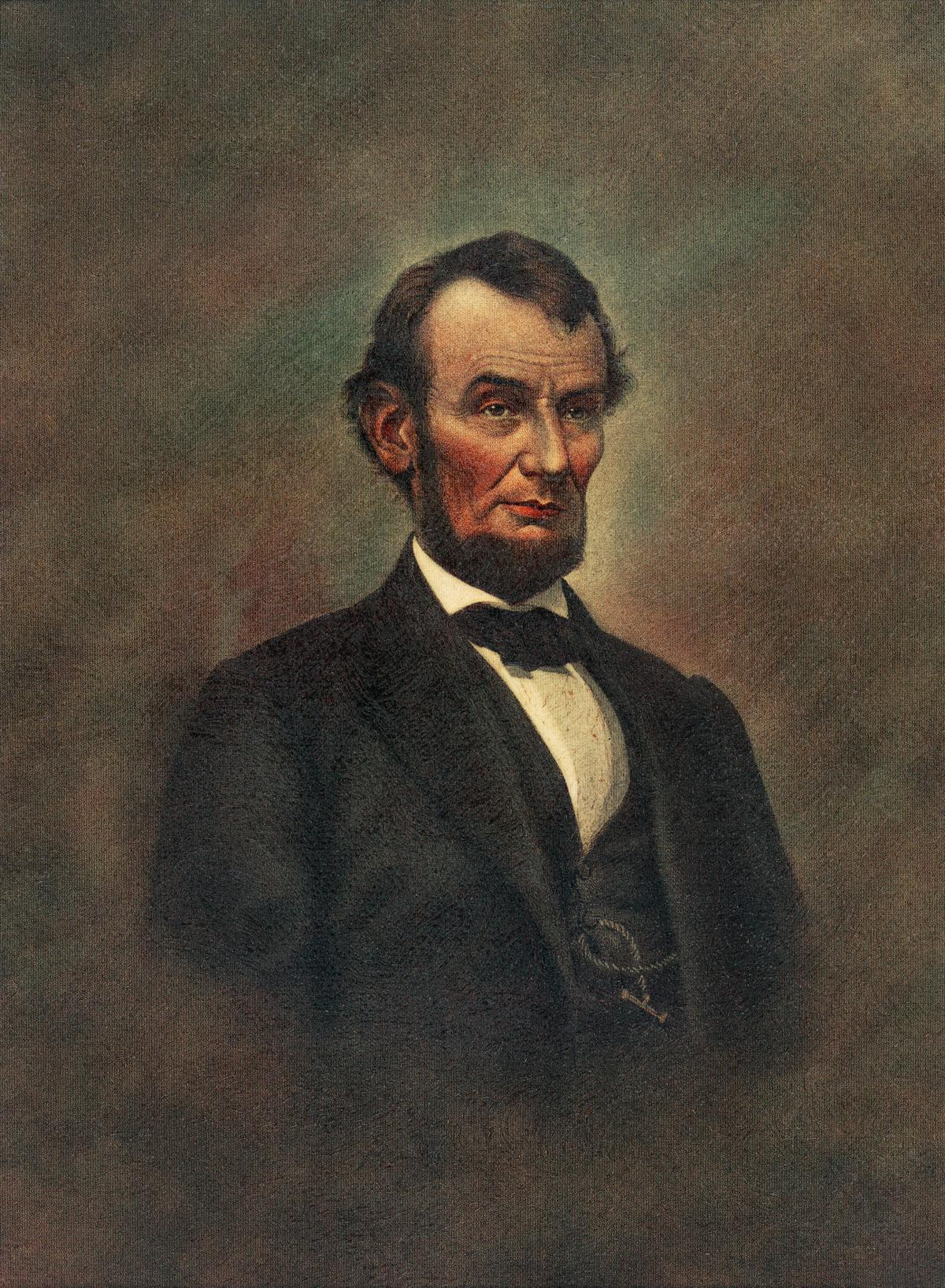 Oil Painting of Abraham Lincoln (1809-1865) by The Alfred Whital Stern Collection of Lincolniana collection. Original from Library of Congress.  #423478