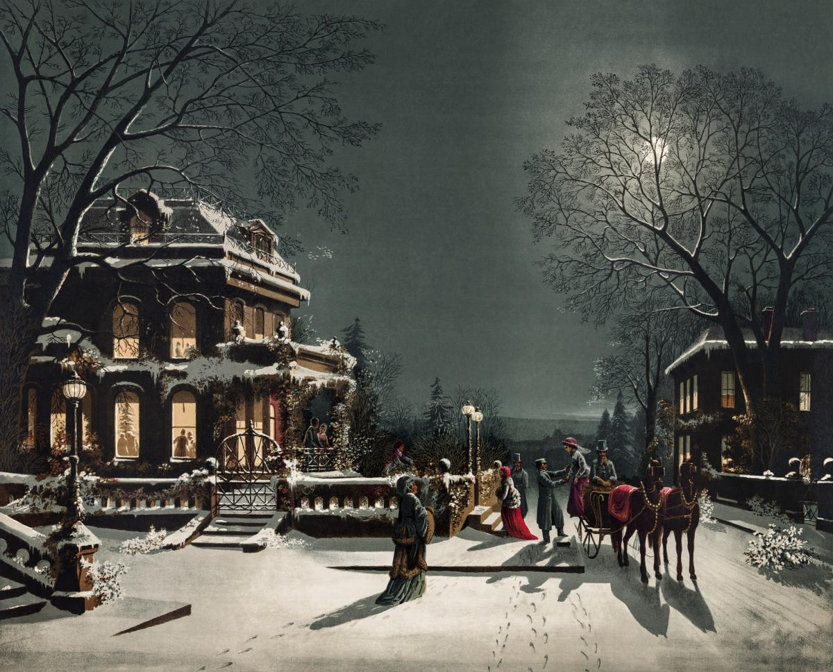 Christmas Eve by Joseph Hoover & Sons Co. Original from The New York Public Library.