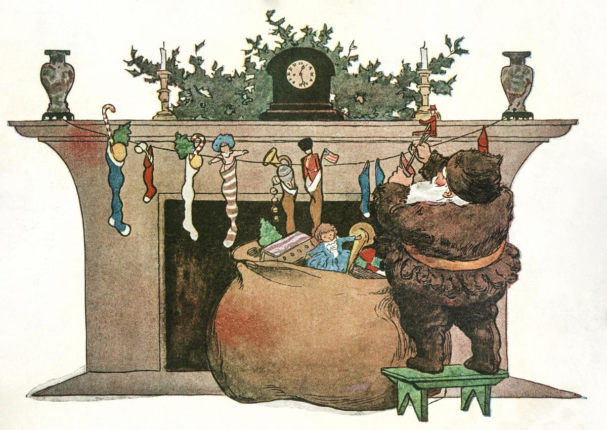 He spoke not a word, but went straight to his work by Jessie Wilcox Smith (1863-1935). Original from The New York Public Library.