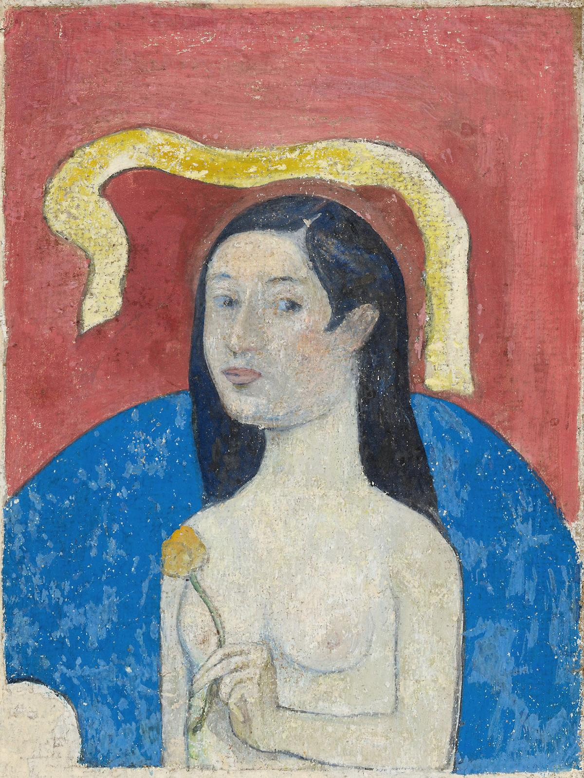 Portrait of the Artist's Mother (Eve) (ca. 1889–1890) by Paul Gauguin. Original from The Art Institute of Chicago.