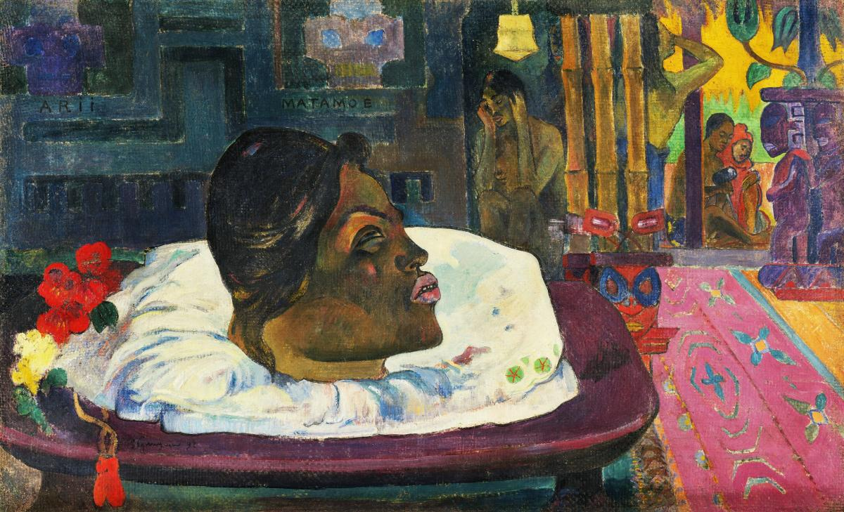 The Royal End (Arii Matamoe) (1892) by Paul Gauguin. Original from The Getty.