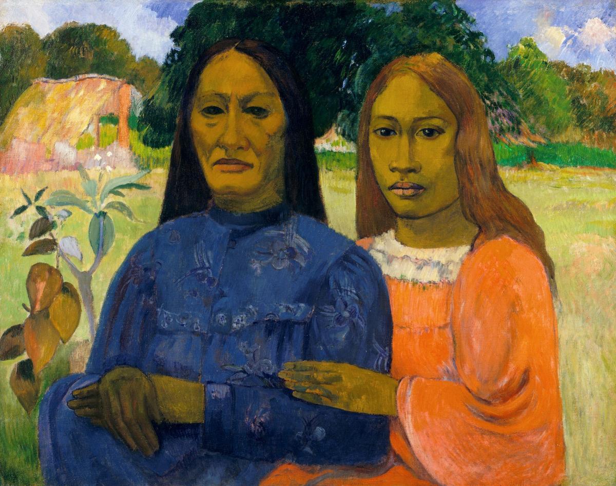 Two Women (ca. 1901–1902) by Paul Gauguin. Original from The MET Museum.
