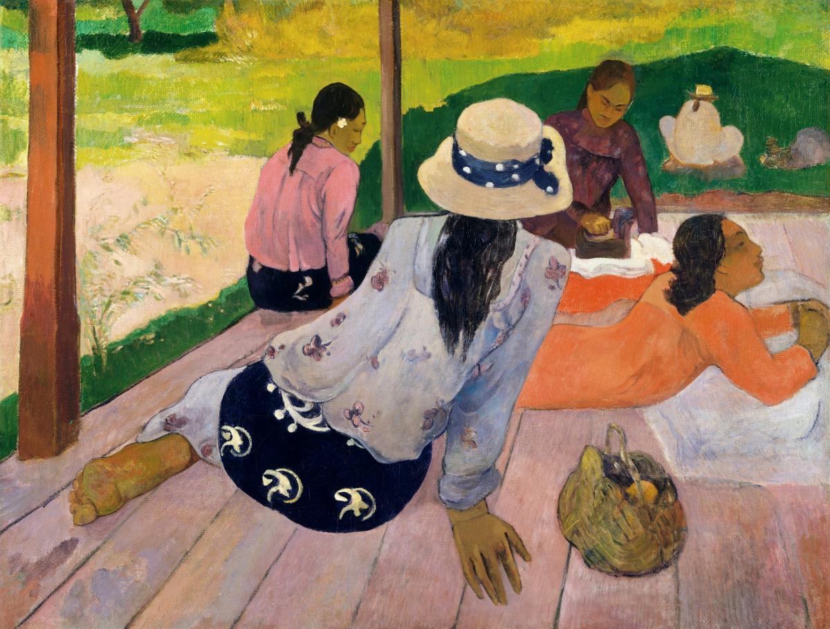 The Siesta (ca. 1892–94) by Paul Gauguin. Original from The MET Museum.  #424036