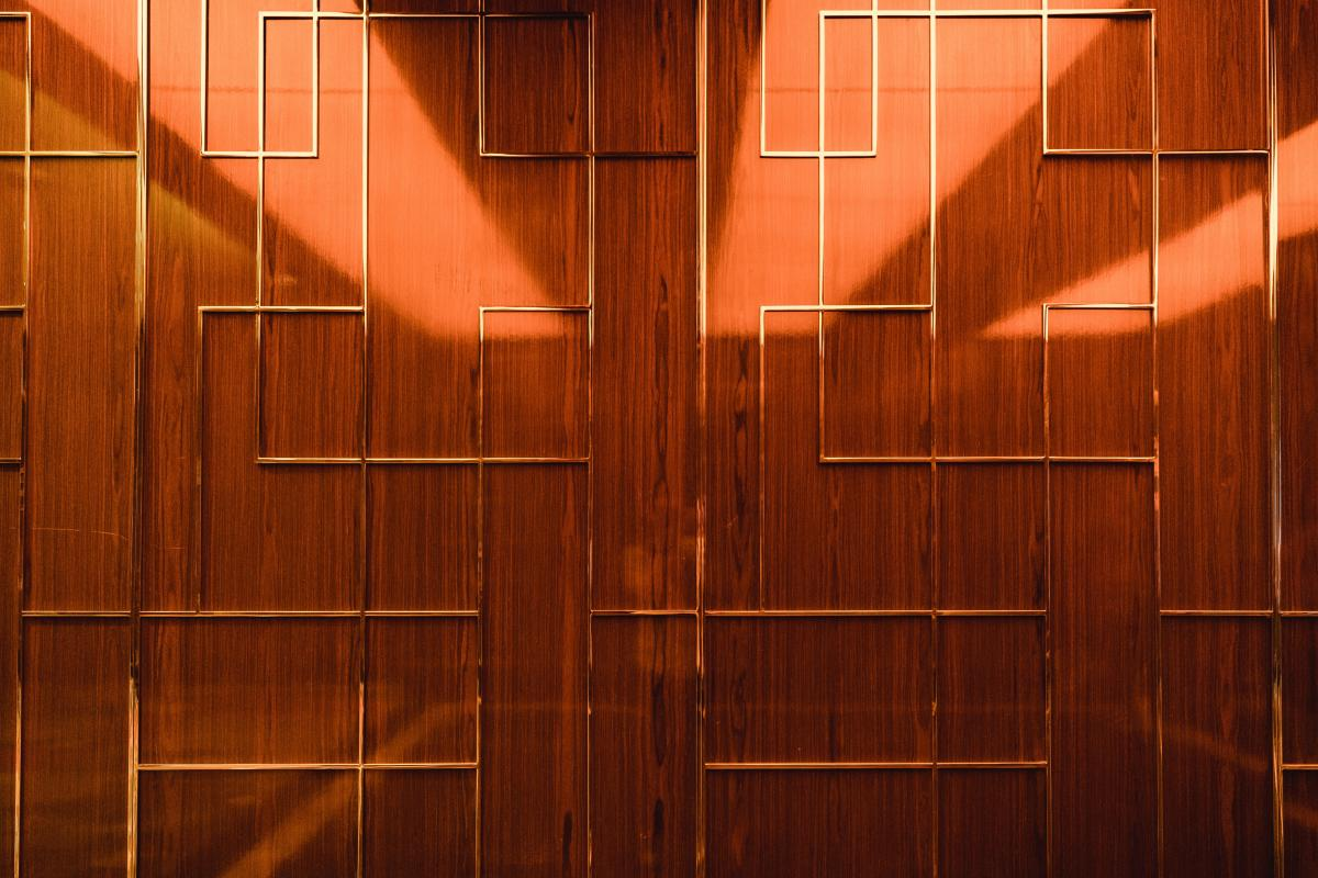 Elevator Wall Wood #424515