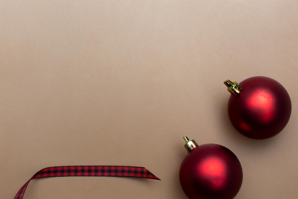 Red Christmas Baubles Free Photo