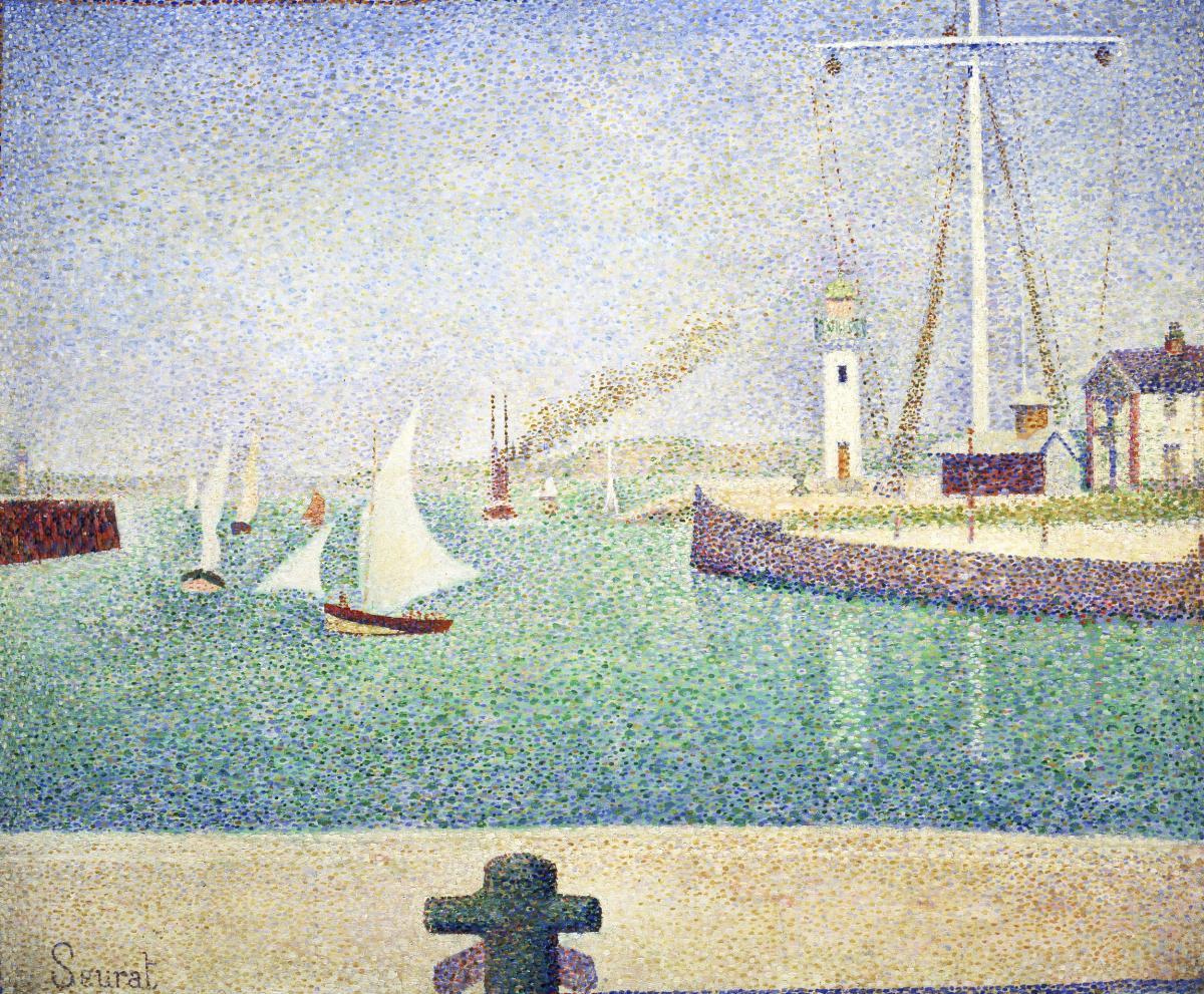 Entrance of The Port of Honfleur (Entrée du port d'Honfleur) (1886) by Georges Seurat. Original from Barnes Foundation.