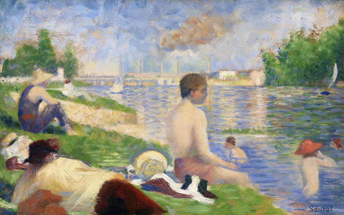 """Final Study for """"Bathers at Asnières"""" (1883) by Georges Seurat. Original from The Art Institute of Chicago.  #425604"""