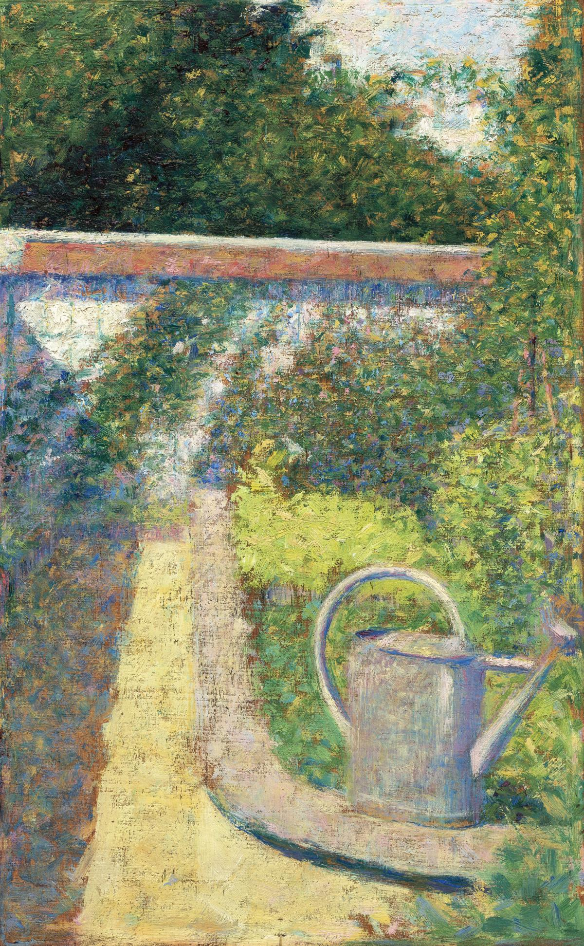 The Watering Can–Garden at Le Raincy (ca. 1883) by Georges Seurat. Original from The National Gallery of Art.