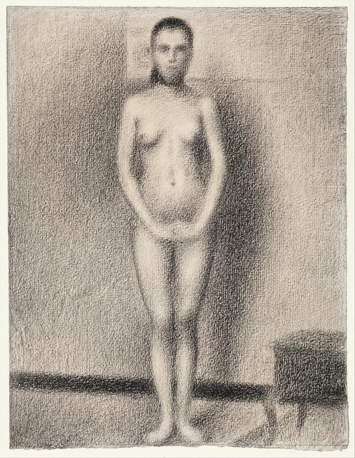 Study for Poseuses (ca. 1886–1887) by by Georges Seurat. Original from The MET Museum.
