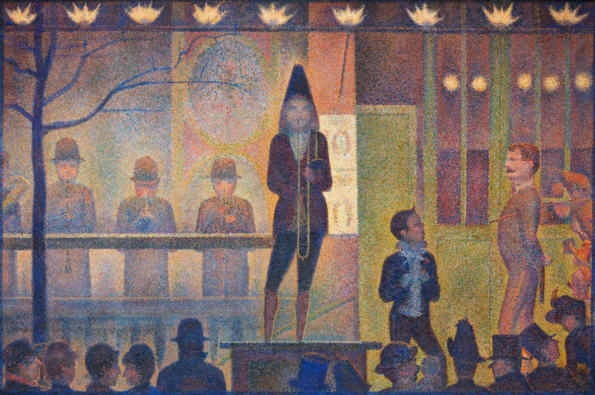 Circus Sideshow (ca. 1887–1888) by Georges Seurat. Original from The MET Museum.  #425608