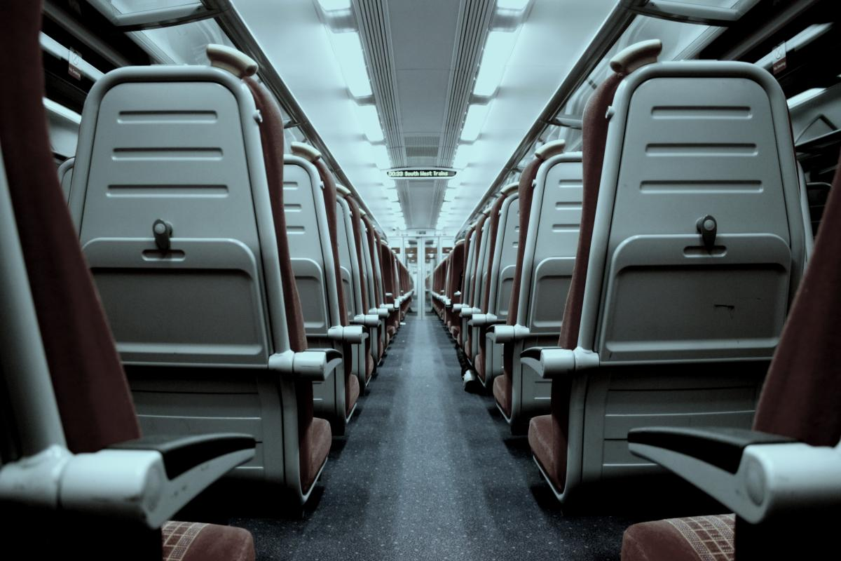 Gray and Brown Train Seat #42587