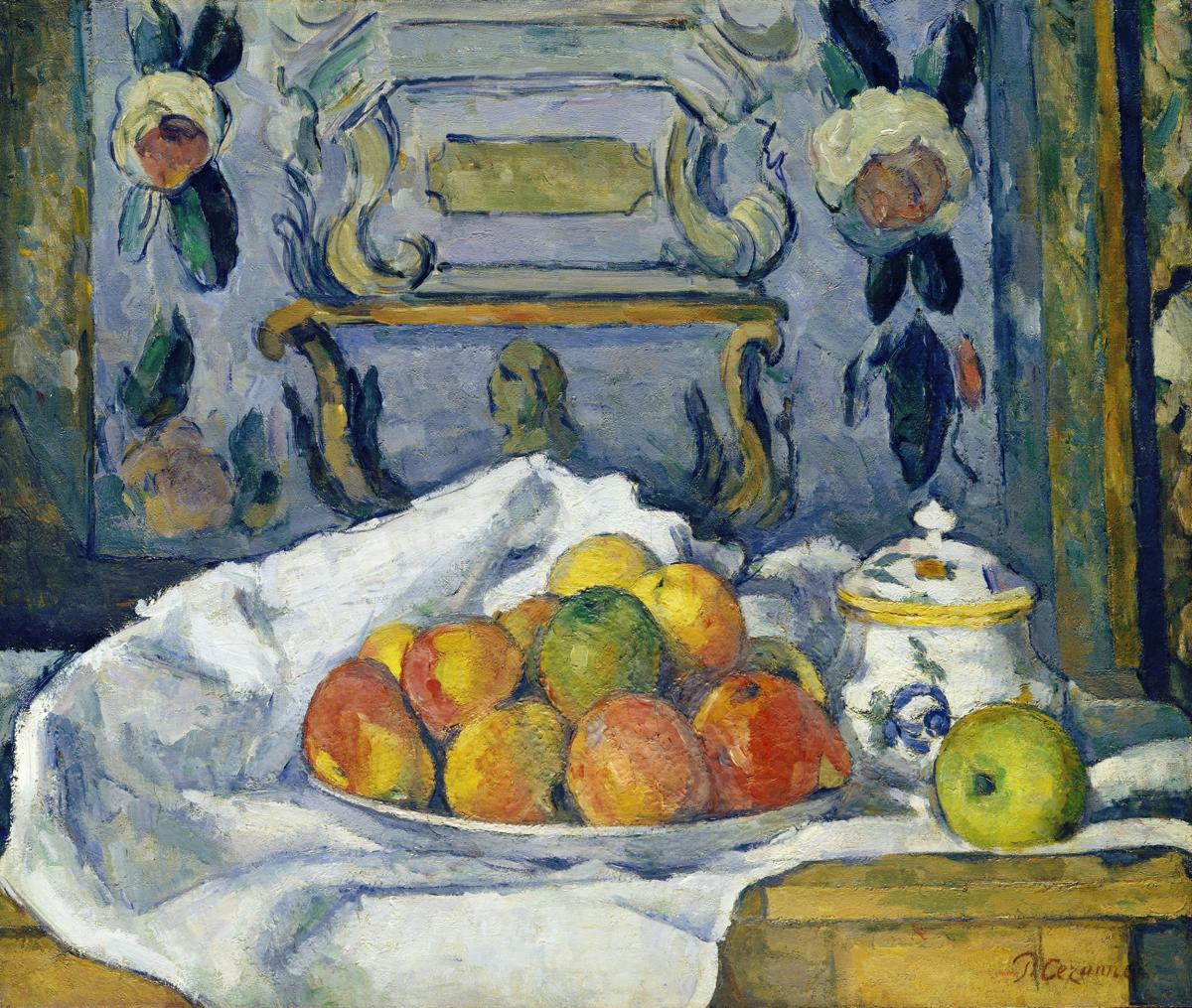 Dish of Apples (ca. 1876–1877) by Paul Cézanne. Original from The MET Museum.