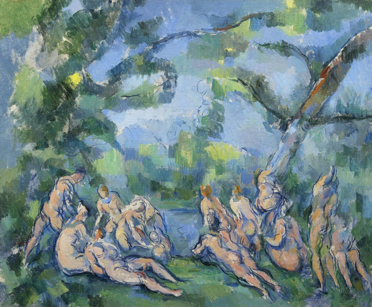 The Bathers (ca. 1899–1904) by Paul Cézanne. Original from The Art Institute of Chicago.