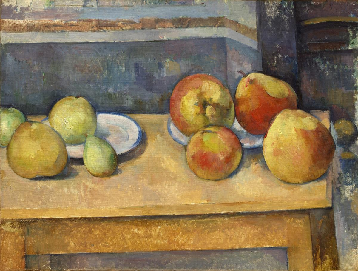 Still Life with Apples and Pears (ca. 1891–1892) by Paul Cézanne. Original from The MET Museum.  #426012