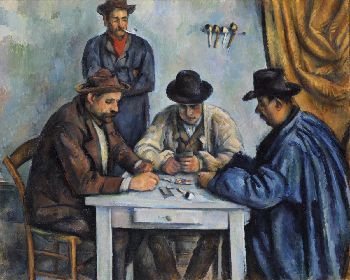 The Card Players (ca. 1890–1892) by Paul Cézanne. Original from The MET Museum.  #426013