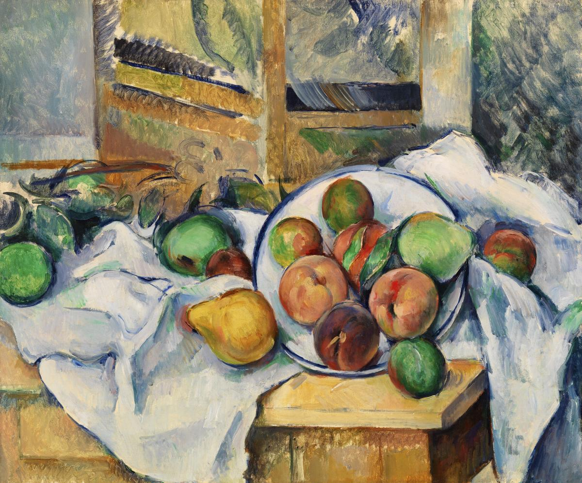 A Table Corner (Un coin de table) (ca. 1895) by Paul Cézanne. Original from Original from Barnes Foundation.  #426016