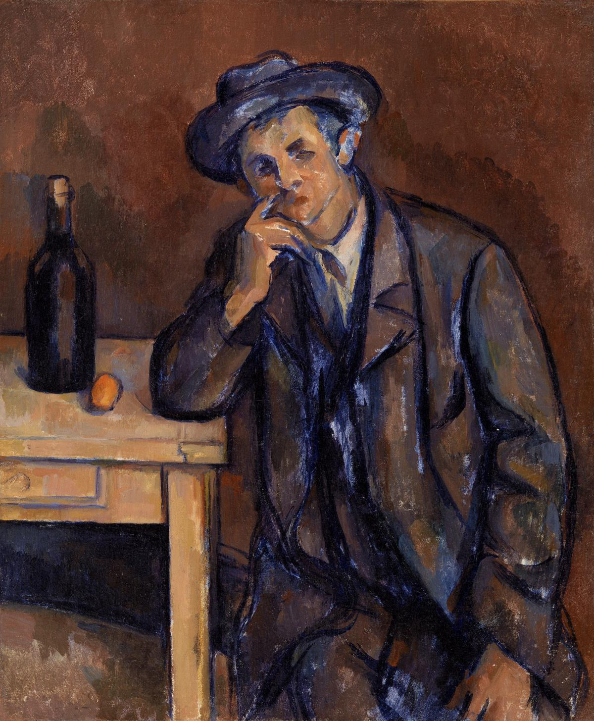 The Drinker (Le Buveur) (ca. 1898–1900) by Paul Cézanne. Original from Original from Barnes Foundation.  #426020