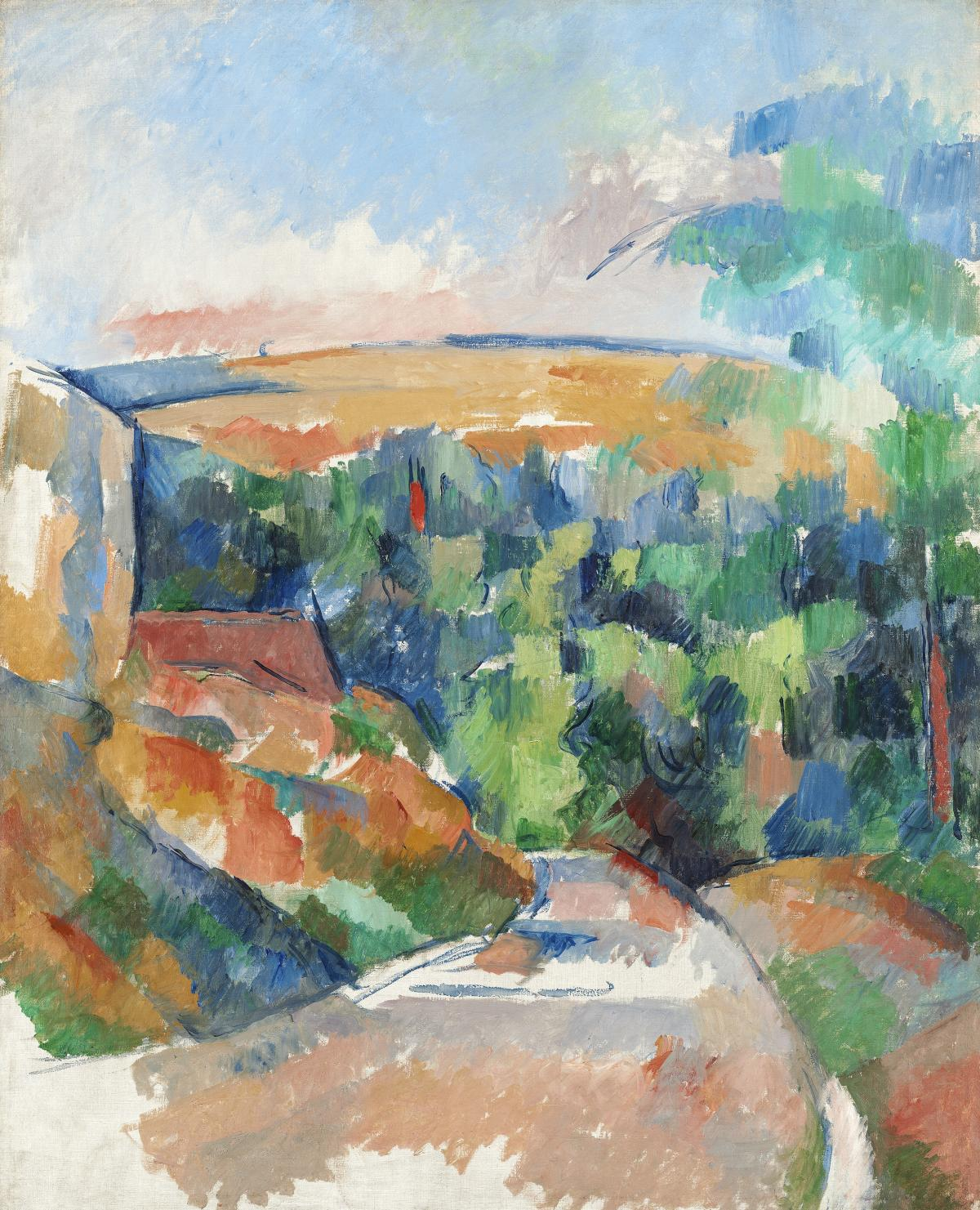 The Bend in the Road (ca. 1900–1906) by Paul Cézanne. Original from The National Gallery of Art.