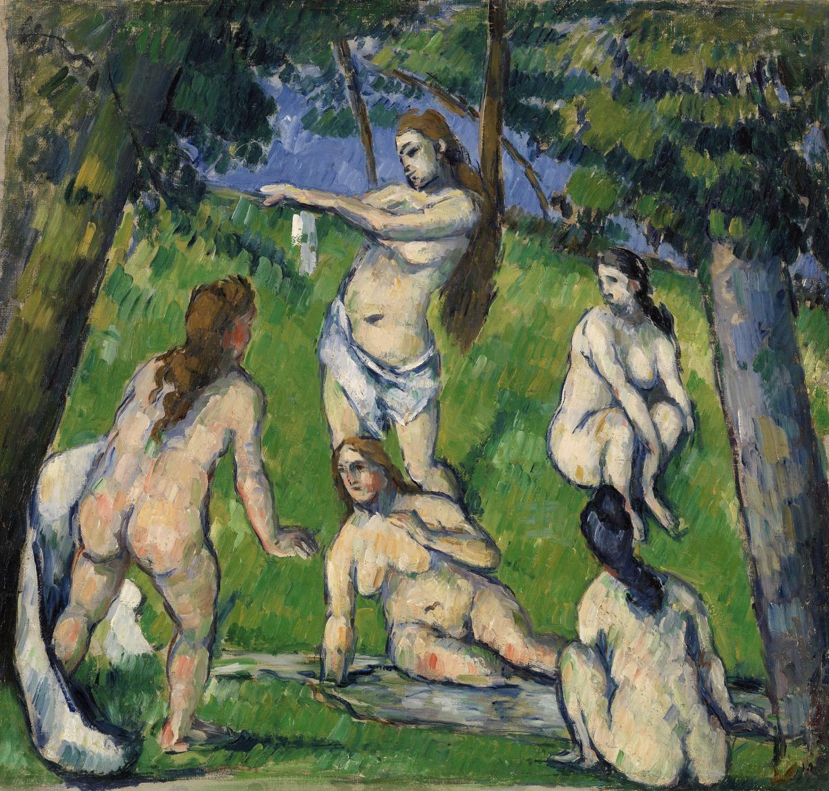 Five Bathers (Cinq baigneuses) (ca. 1877–1878) by Paul Cézanne. Original from Original from Barnes Foundation.  #426029