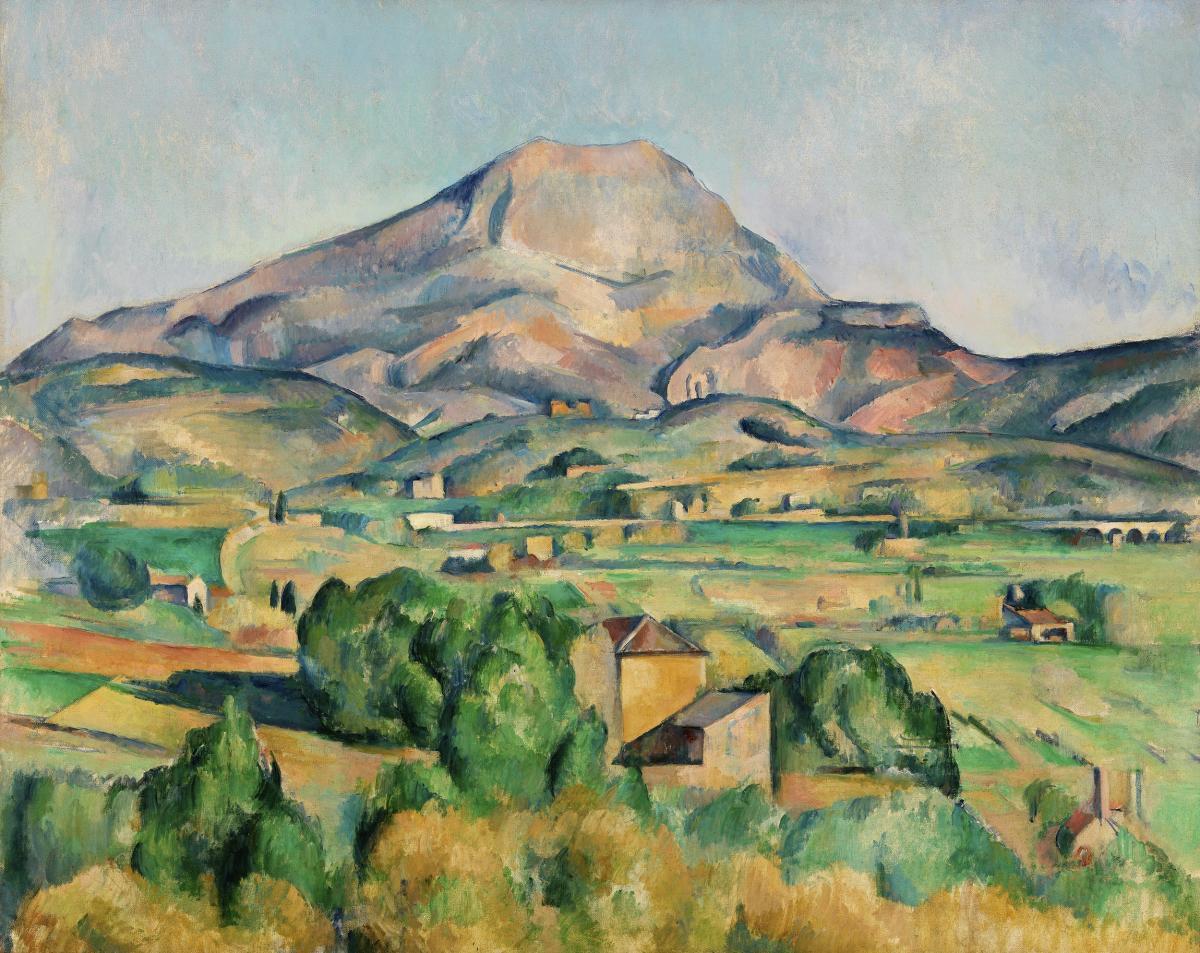 Mont Sainte-Victoire (La Montagne Sainte-Victoire) (ca. 1892–1895) by Paul Cézanne. Original from Original from Barnes Foundation.