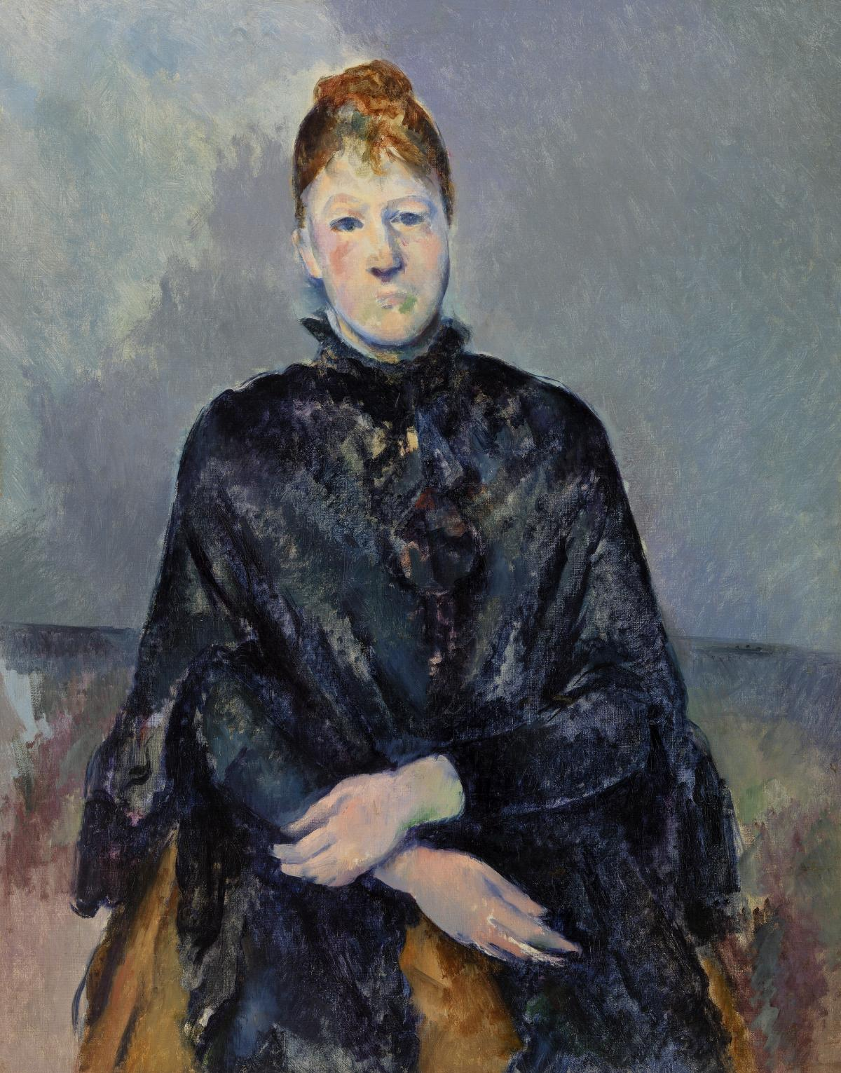 Madame Cézanne (Portrait de Madame Cézanne) (ca. 1888–1890) by Paul Cézanne. Original from Original from Barnes Foundation.  #426043