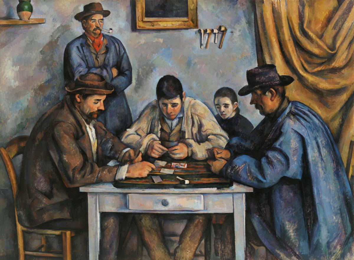 The Card Players (Les Joueurs de cartes) (ca. 1890–1892) by Paul Cézanne. Original from Original from Barnes Foundation.  #426046
