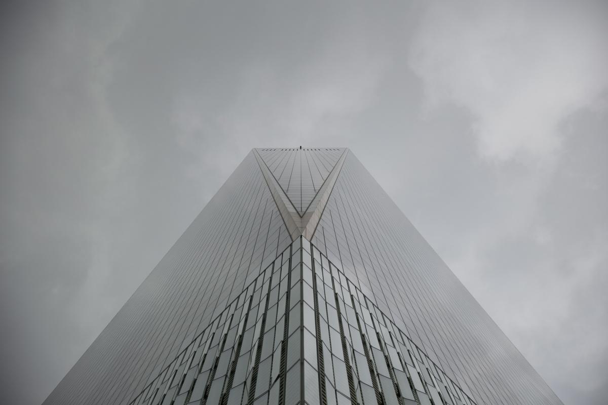 Tall Skyscraper Clouds Free Photo