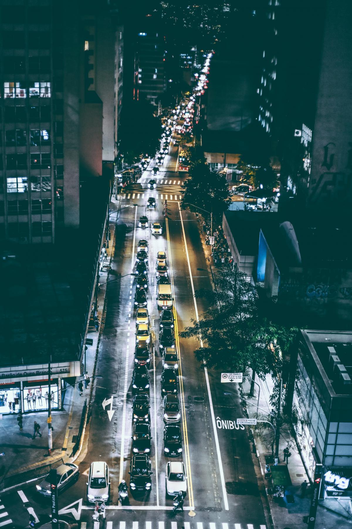 Cars on Black Asphalt Road during Nighttime #44427