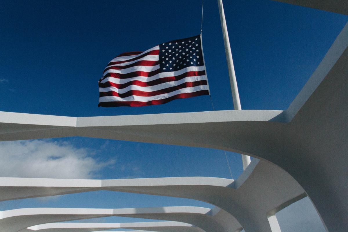 U.S.A Flagge winkt tagsüber #44845