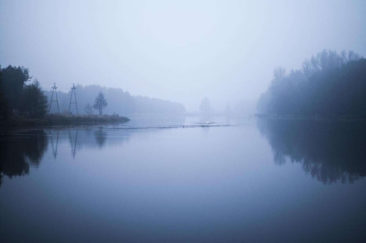 Water blue fog river #46796